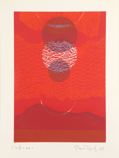 Gabor Peterdi, 'Red Eclipse II', 1969