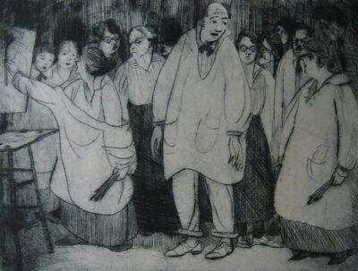 Peggy Bacon, 'The Bellows Class', 1918