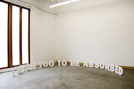 Erdem Taşdelen, 'I Wish Too To Be Absorbed', 2010