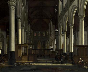 Emanuel de Witte, 'The Interior of the Oude Kerk, Amsterdam', ca. 1660