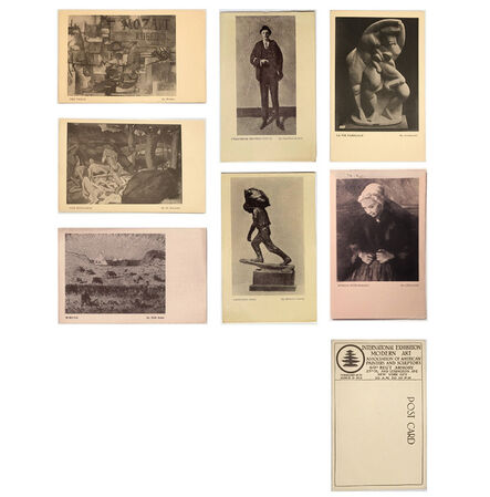 1913 Armory Show, '7- EXHIBITION POSTCARD SET: 1913 Armory Show (International Exhibition of Modern Art), Archipenko, Braque, Cézanne, de Segonzac, & Walt Kuhn', 1913