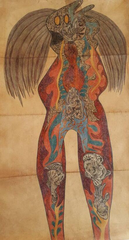 Geneviève Seillé, 'Tattooed character #1', 2001