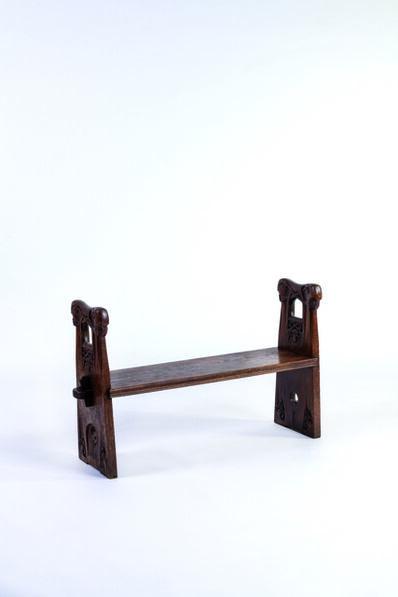 Johan Borgersen, 'Sculpted bench', vers 1900