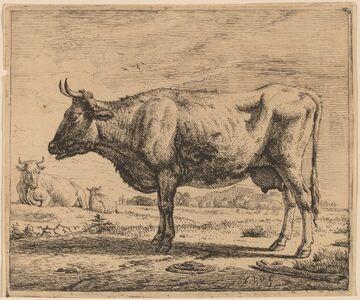 Adriaen van de Velde, 'Two Cows and a Sheep', ca. 1657/1659