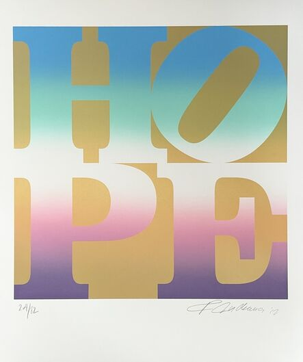 Robert Indiana, 'HOPE, Spring (Four Seasons of Hope, Gold Suite)', 2012