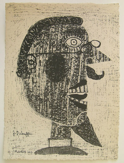 Jean Dubuffet, 'Barbu a Lunettes', 1944