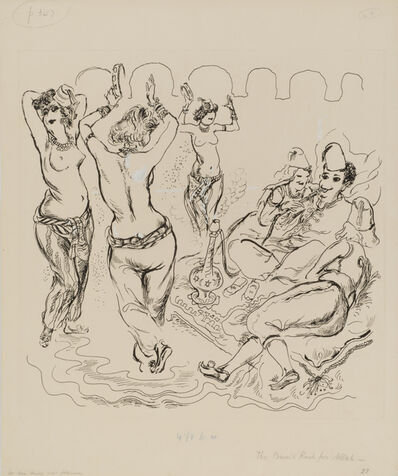 George Grosz, 'The Bum's Rush for Allah', 1941