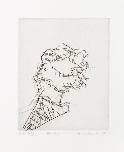 Frank Auerbach, 'Reclining head of Julia', 1998