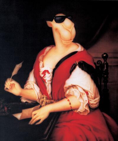 Zhou Tiehai, 'Portrait of Madame de Sevigne Writing', 2008