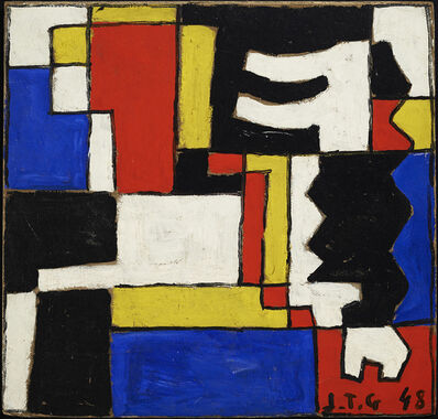 Joaquín Torres-García, 'Estructura a cinco tonos con dos formas intercaladas (Structure in five tones with two interspersed forms)', 1948