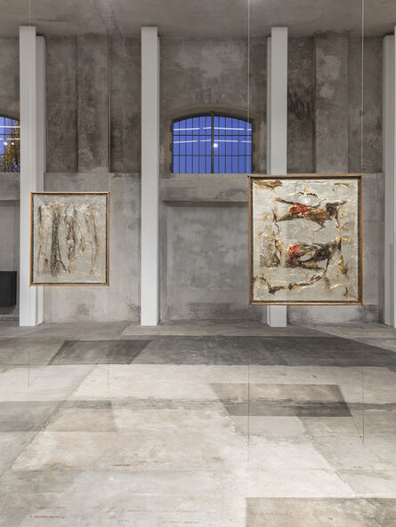Alberto Burri, 'Exhibition view featuring Alberto Burri, Plastica, 1962 and Alberto Burri, Plastica 8, 1963', 1962-1963