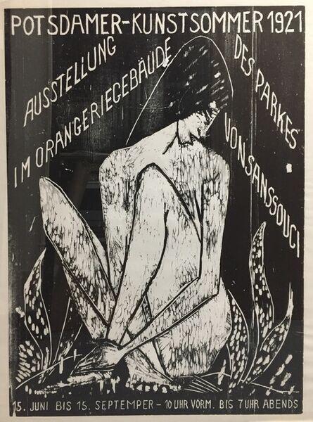 Otto Mueller, ' POTSDAMER  KUNSTSOMMER - LARGE RARE  WOODCUT POSTER', 1921 (1968)