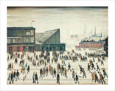 Laurence Stephen Lowry, 'Going to the Match', 1972