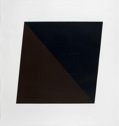 Ellsworth Kelly, 'Black/Brown', 1970