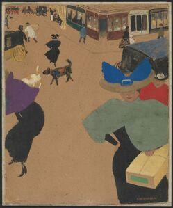 Félix Vallotton, 'Street Scene in Paris (Coin de rue à Paris)', 1895