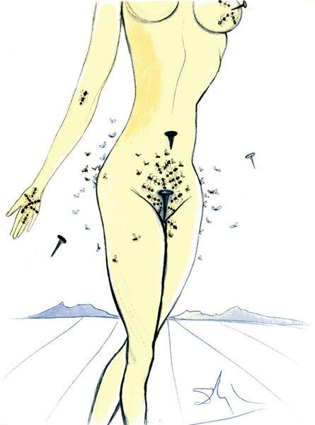 Salvador Dalí, 'Ants, Nails & Flies On Nude', 1967