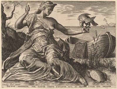 Cornelis Cort after Frans Floris I, 'Tactus', 1561