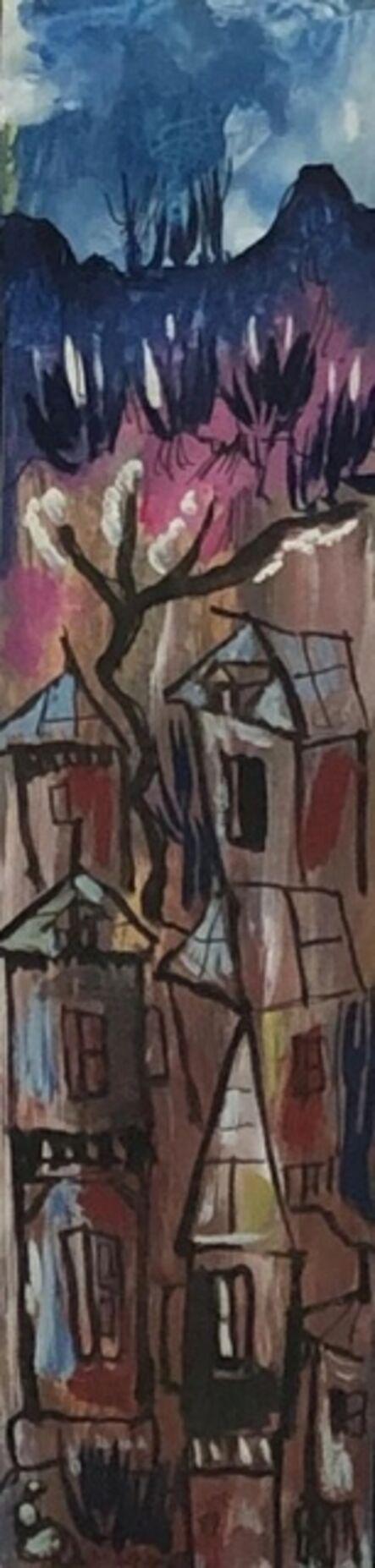 Luckner Lazard, 'Houses & Mountains', 1989