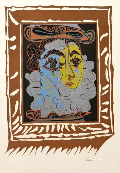 Pablo Picasso, 'Portrait de Femme A La Fraise Et Au Chapeau (B. 1145 BA. 1323) ', 1962