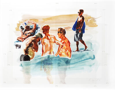 Eric Fischl, 'Men in Water', 2018
