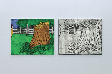 Matt Mullican, 'Comic Details (trunk)', 2012
