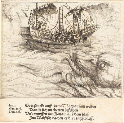 Augustin Hirschvogel, 'Jonah in the Whale'