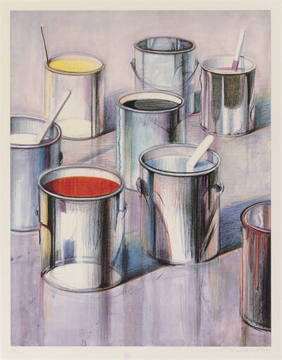 "Wayne Thiebaud, '""Paint Cans""', 1989"