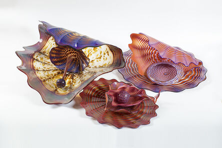 """Dale Chihuly, '9 Piece Pozzuoli Earth Persian Set one of Kind Massive 30"""" Diameter', 1989"""