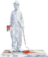 Mr. Brainwash, 'Chaplin Splash - Red', 2020