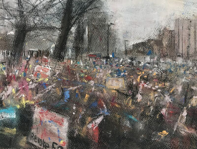 Oona Hassim, 'Peoples Vote Demo 23rd March 2019', 2019