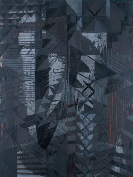 Aschely Cone, 'Black Shield II', 2017