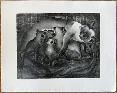 Ivan Messenger, 'Thaia and her Quints', ca. 1930