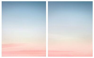 Eric Cahan, '6:36pm, Zuma Beach, CA, Diptych', 2013