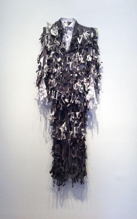 Lesley Dill, 'Grey Poem Suit', 2014