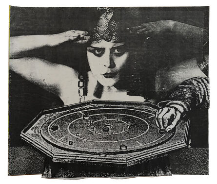 Larry Lewis, 'Untitled (The Fortune Teller) - Page from mixed media collage book, Side A and B', ca. 1970