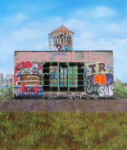 "Jessica Hess, '""Rooftops I""', 2015"