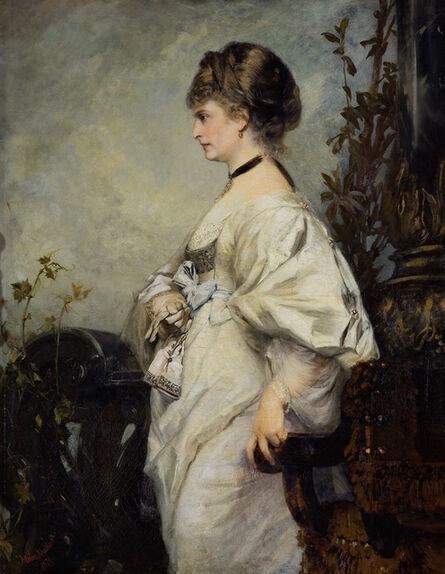 Hans Makart, 'Portrait of Magdalena Plach', 1870