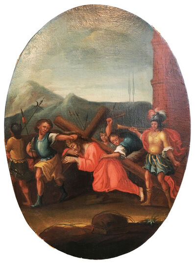 Anonymous, 'Via Crucis (Jesus is loaded with the cross)', Second half of 18th century