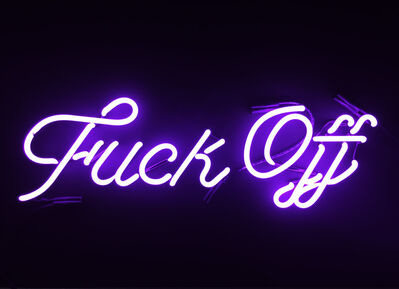 Indira Cesarine, 'Fuck Off (violet)', 2017