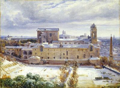André Giroux, 'Santa Trinità dei Monti in the Snow', 1825/1830