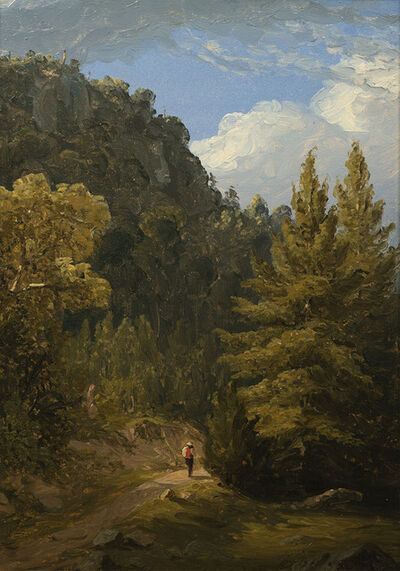 Sanford Robinson Gifford, 'A Path in the Mountains', Late 19th century