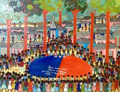 """Etienne Chavannes, '""""Reunion Femme d'Haiti en Vue de Trouver Une Solution Pour Sauver Haiti"""" ', 1990"""