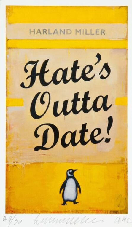 Harland Miller, 'Hate's Otta Date!', 2017