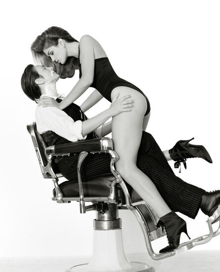 """Herb Ritts, '""""K.D. Lang and Cindy Crawford""""', 1993"""