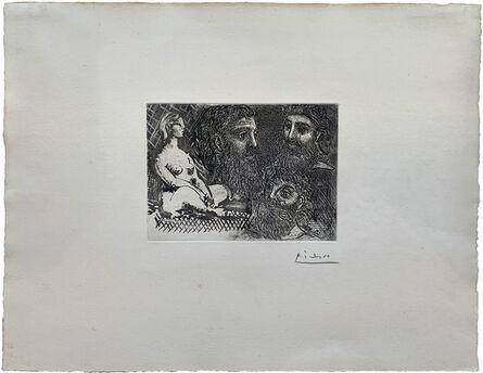 Pablo Picasso, 'Marie-Thérèse en idole et trois grecs barbus', 1939