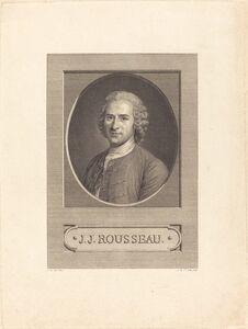 Augustin de Saint-Aubin after Maurice-Quentin de La Tour, 'J.J. Rousseau', 1777