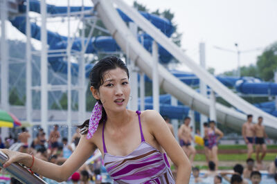 Ari Hatsuzawa, 'Outdoor pool in Pyongyang, construction finished in 2012', 2012