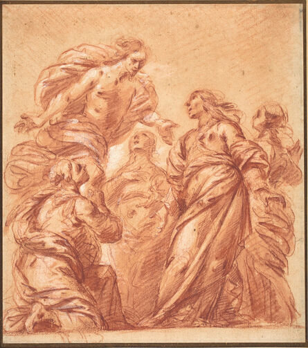 Bartolomeo Biscaino, 'Christ Appearing to the Three Marys'