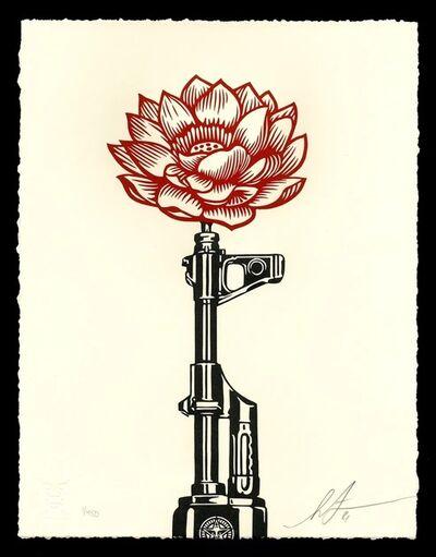 Shepard Fairey, 'AK-47 Lotus - Letterpress', 2021