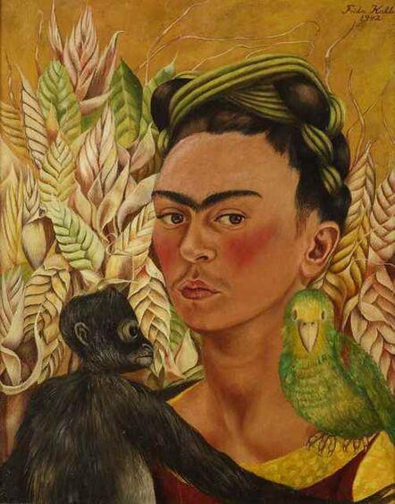 Frida Kahlo, 'Autorretrato con chango y loro', 1942